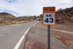 El teide road stock image