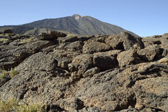 El Teide, Tenerife. Rocks in foreground Stock Image