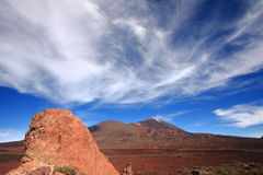 El Teide Volcano. On the island of Tenerife in the Canary Islands of Spain Stock Image