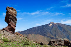 El Teide. Volcano at the Canary Islands, Spain Royalty Free Stock Photos