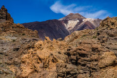 El Teide Volcano and Lava Formation-Tenerife,Spain Royalty Free Stock Photo