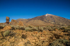 El Teide Volcano and Lava Formation-Tenerife,Spain Stock Photo