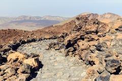 El Teide Volcano in Tenerife, Canary Islands, Spain Stock Image