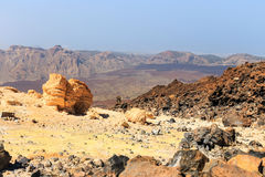 El Teide Volcano in Tenerife, Canary Islands, Spain Royalty Free Stock Images