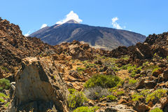 El Teide Volcano in Tenerife, Canary Islands, Spain Stock Photo