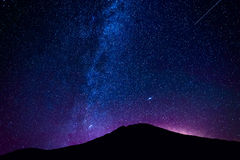 El Teide wulkan przy nocą Fotografia Royalty Free