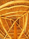 El tejado amarillo se hace del bastón Foto de archivo libre de regalías