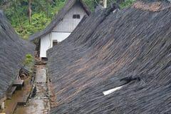 El tejado de la casa tradicional del Naga de Kampung Fotografía de archivo libre de regalías