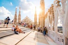El tejado de la catedral del Duomo Imagen de archivo