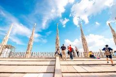 El tejado de la catedral del Duomo Fotografía de archivo