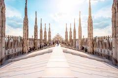 El tejado de la catedral del Duomo Imágenes de archivo libres de regalías