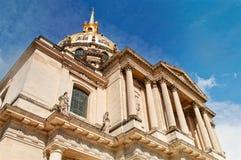 El tejado de la residencia nacional de Invalids en París Fotografía de archivo libre de regalías