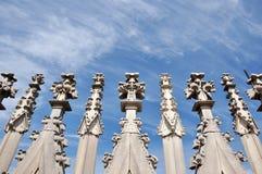 El tejado de los Di Milano del Duomo Fotos de archivo libres de regalías