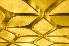El tejado de oro del estampado de plores adorna Imagen de archivo libre de regalías