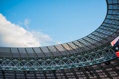 El tejado del estadio de Luzhniki, durante el partido semi-final del mundial 2018 de la FIFA entre Croacia e Inglaterra imágenes de archivo libres de regalías