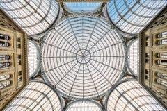 El tejado del Galleria Umberto Neapel Italy Foto de archivo