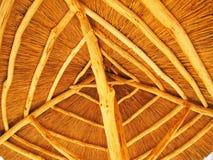 El tejado se hace de la paja Foto de archivo