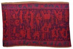 El tejer de la tribu de Jalqa del boliviano Imagen de archivo libre de regalías