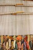 El tejer de seda de la manta Imágenes de archivo libres de regalías