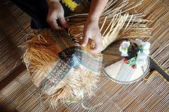 El tejer del sirung Papar Fotografía de archivo