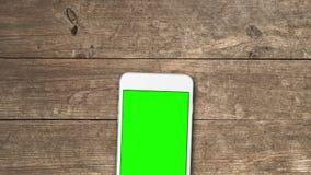 El teléfono móvil con greenscreen metrajes