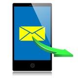 El teléfono móvil envía un mensaje Imágenes de archivo libres de regalías