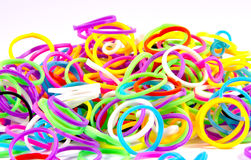 El telar elástico congriega color por completo Imagen de archivo