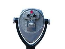 El telescopio tourisitic aislado funciona con las monedas Imagen de archivo libre de regalías