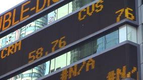 El teletipo de las noticias, símbolos comunes, mercados, negocia almacen de video