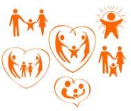 El tema de iconos es una familia Imagen de archivo libre de regalías