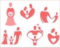 El tema es familia en los iconos libre illustration
