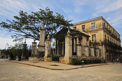 El Templete在老哈瓦那 免版税图库摄影