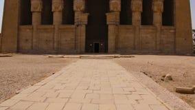 El templo antiguo hermoso del templo de Dendera o de Hathor Egipto, Dendera, templo egipcio antiguo cerca de la ciudad de Ken almacen de video