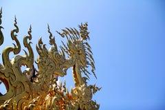 El templo blanco en Tailandia Fotos de archivo libres de regalías