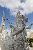 El templo blanco, o Wat Rong Khun, Chiang Rai, Tailandia imagenes de archivo