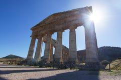 El templo dórico de Segesta Foto de archivo