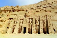 El templo de Abu Simbel en Egipto foto de archivo