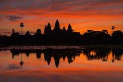 El templo de Angkor Wat Imagen de archivo libre de regalías