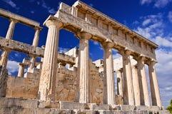 El templo de Aphaea. Fotos de archivo