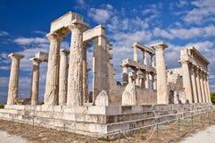 El templo de Aphaea. Imágenes de archivo libres de regalías