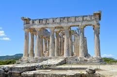 El templo de Aphaia en Aegina, Grecia el 19 de junio de 2017 Imagenes de archivo