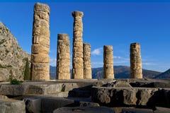 El templo de Apolo Delphi Foto de archivo libre de regalías