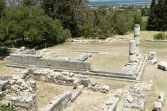 El templo de Asclepius Imágenes de archivo libres de regalías