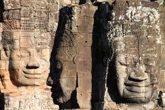 El templo de Bayon imagen de archivo libre de regalías