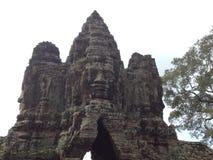 El templo de Bayon en Angkor Camboya imagen de archivo