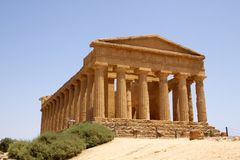 Templo de Concordia Agrigento Imagenes de archivo