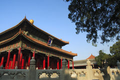 El templo de Confucius y la universidad imperial Imagen de archivo libre de regalías