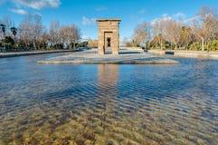 El templo de Debod en Madrid, España Foto de archivo libre de regalías