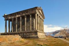 El templo de Garni en invierno, Armenia fotos de archivo