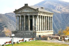 El templo de Garni es edificio colonnaded grecorromano cerca de Ereván, Armenia Imágenes de archivo libres de regalías